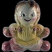 American Bisque Rag or Yarn Doll Ceramic Bank