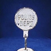 Arcade Cast Iron Round 'Police Dep't.' Sign 1924-1936