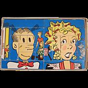 Blondie & Dagwood Interchangeable Blocks in Original Box 1951