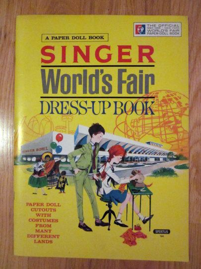 New York 1964 World's Fair Singer Paper Doll's Uncut