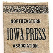 Northeastern Iowa Press Association Silk Ribbon 1896