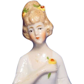 """Half Doll 2 1/2"""" Porcelain Numbered and Marked Germany"""