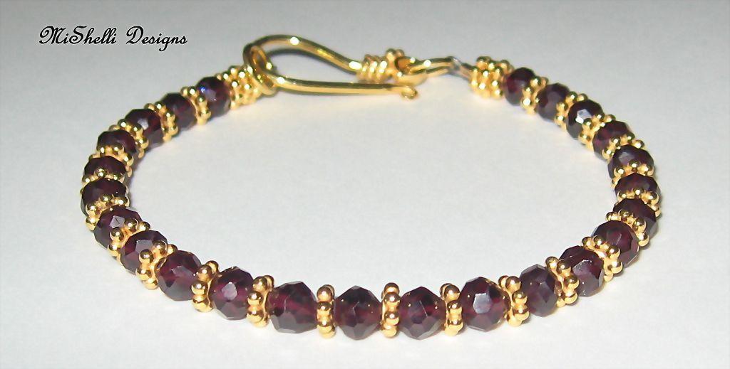 MiShelli ~ Garnet Gemstone Vermeil Bracelet