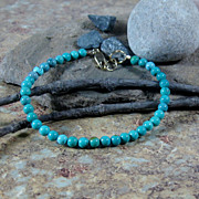 Turquoise Summer Bracelet Gold Filled