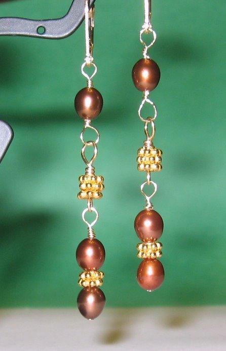 Freshwater Pearl Vermeil Earrings