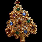 Eisenberg Christmas Tree Brooch Pin ~ Book Piece