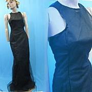 B2679 Vintage dress Carolina Herrera SAMPLE dress gown Silk