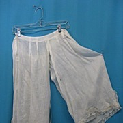 Antique pantaloons bloomers Civil War era Victorian figural