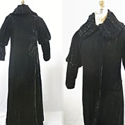 Vintage opera coat evening silk velvet 1920s