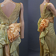 Vintage dress evening 1930s classic design