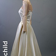 Vintage slip 1950s bridal for study  all silk