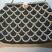 Vintage purse beaded mid century excellent