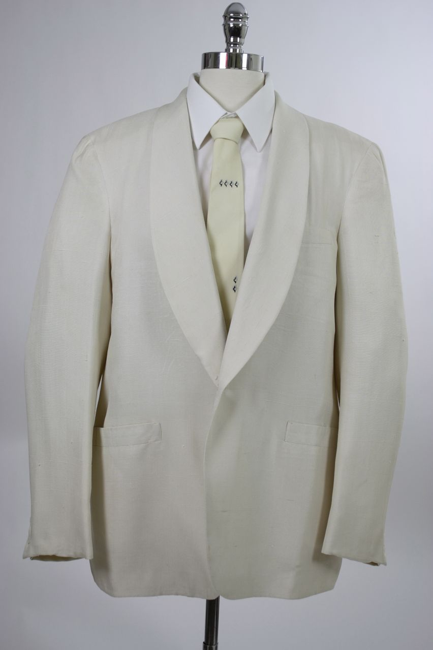 Vintage 60s mens jacket Brooks Bros Silk Tuxedo Dinner Sz 44R