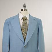 Vintage 60s 70s mens Jacket powder blue