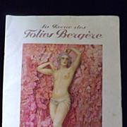 1927 La Revue des Folies Bergere Program
