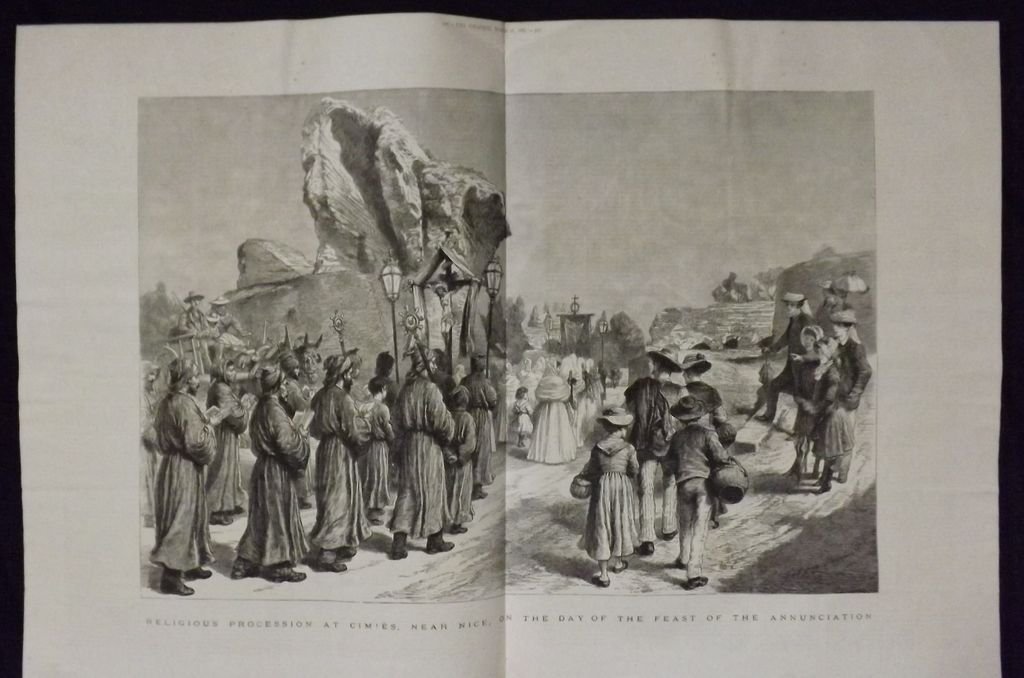 Religious Procession Near Cimies -The Graphic 1885