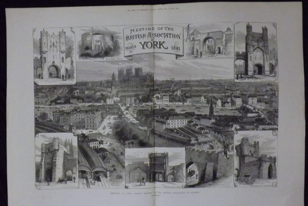 YORK -Meeting Of The British Association - Illustrated London News 1881