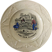 Victorian Child's Decorated Plate -The Sick Donkey