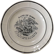 Victorian Child's Alphabet Decorated Plate - Band of Hope - The Sabbath Keepers