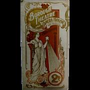 """Theatre Program """"Borough Theatre and Opera House"""" Stratford Circa 1920"""
