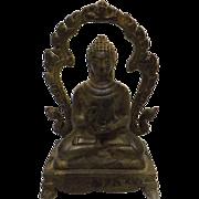 Very Old Thai Bronze Buddha - Circa 1900