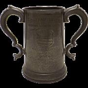 BURTON Rowing Club Large Pewter Presentation Tankard - 1872
