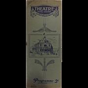 Theatre Program - Theatre Royal Exeter 1918