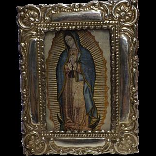 Stunning Peruvian 950 High Grade Silver Photo Frame - Circa 1930 - 1940