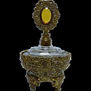 Ornate FRENCH Filigree Parfum Bottle