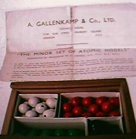 "Vintage Scientific Set "" The Minor Set Of Atomic Models"" Circa 1940's"