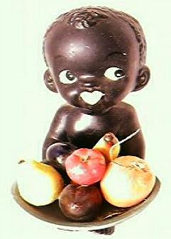 Vintage Black Baby Ornament 1950's-60's
