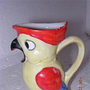 Gorgeous Little Luster Porcelain Parrot Creamer
