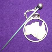 Australian 9 Carat Gold Commonwealth Stick Pin Brooch