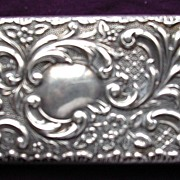 Edwardian Sterling Silver Art Nouveau CARD CASE