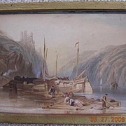 Victorian Period Baltic Boating Scene Lithograph