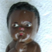 Small Plastic Wooley Headed Negro Doll