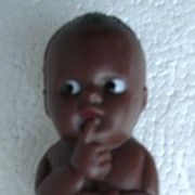 Vintage Small Plastic Formed Negro Baby Doll