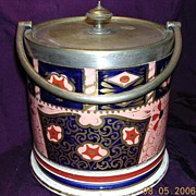 Stunning Victorian IMARI Biscuit Barrel