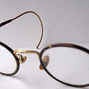 Vintage Celluloid and Gold Spectacles with Case