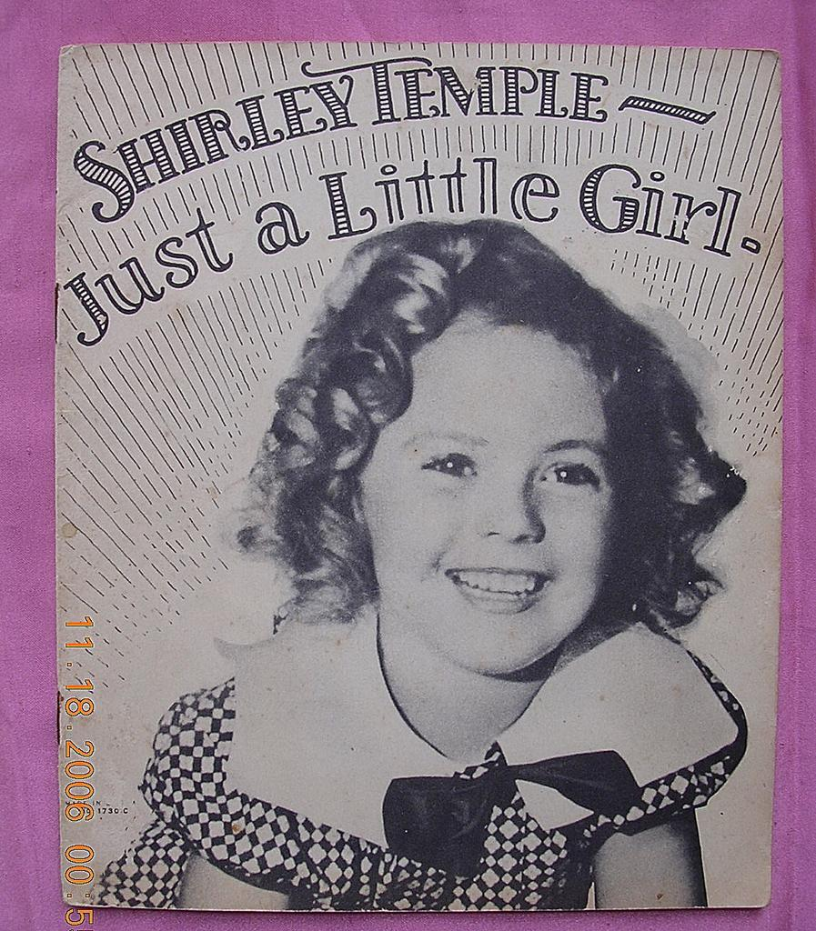 """Vintage 1934 Shirley Temple Book """"Just A Little Girl"""""""