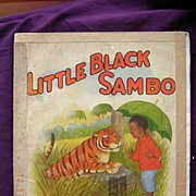 Vintage Little Black Sambo  - Large Version Circa 1930's