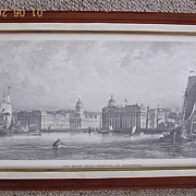 "Victorian Engraving ""The Royal Navy Hospital at Greenwich"""