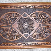 Victorian Hand Carved Ornate Tray