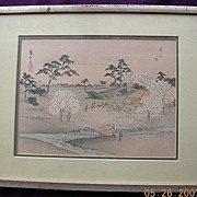 1920's Signed Japanese Water Colour Print