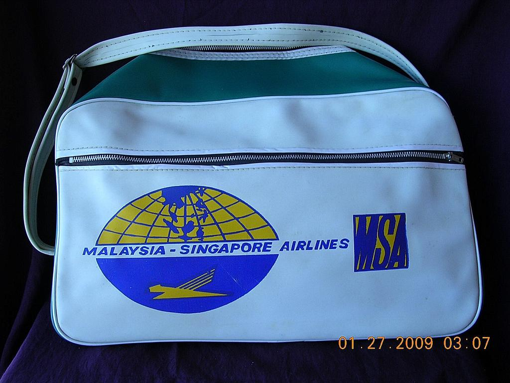 Vintage Malaysian-Singapore Airlines Cabin Bag