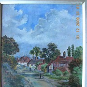 Genuine Victorian Oil Painting of an English Country Scene