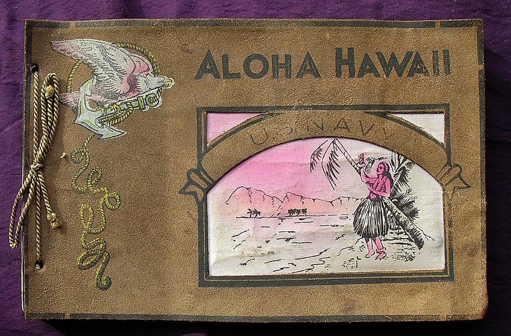 1940's US NAVY Photograph Album 'Aloha Hawaii'