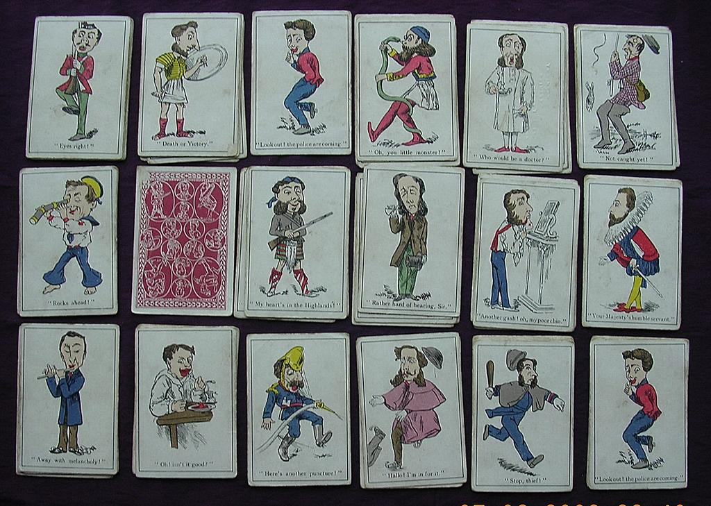 """Victorian Children's """"SNAP"""" Playing Cards"""