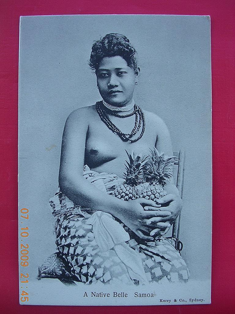 "Vintage Nude Postcard ""A Native Belle - Samoa"""