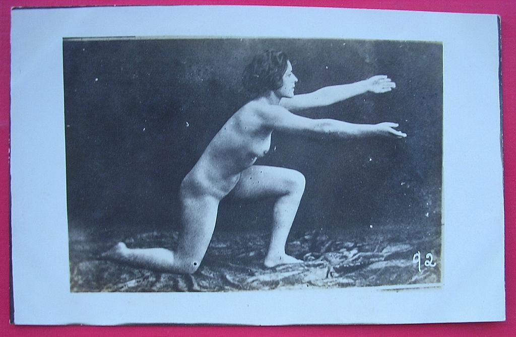 Vintage Nude Nature Lover Exerciser Postcard